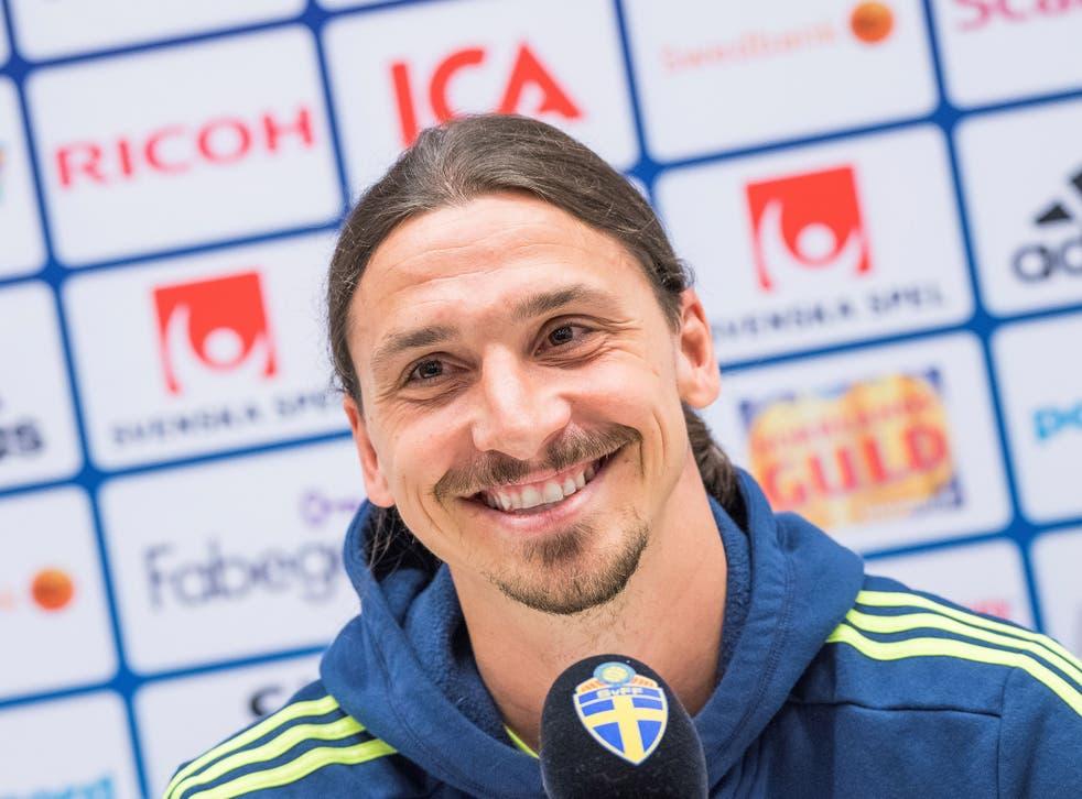 Zlatan Ibrahimovic spoke on his future at a press conference on Thursday