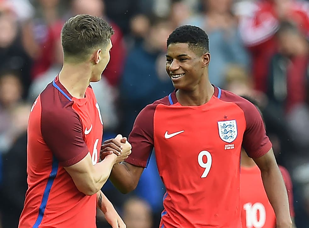 Rashford's debut goal came from his first shot in international football