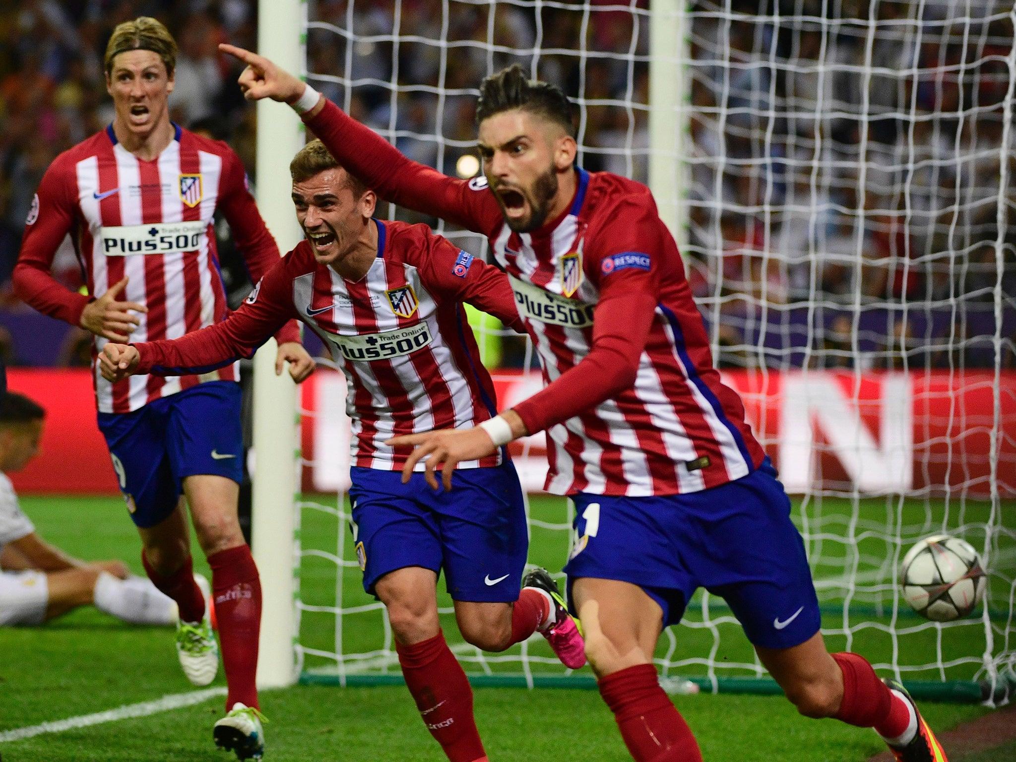 Champions League final Yannick Ferreira Carrasco celebrates