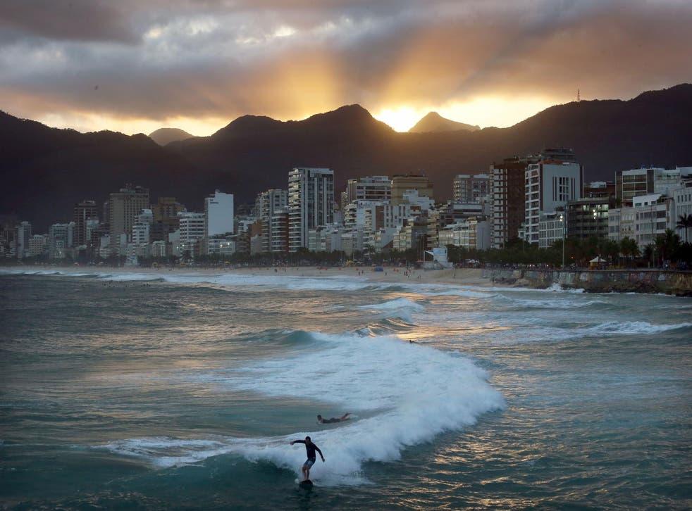 A Rio de Janeiro beach