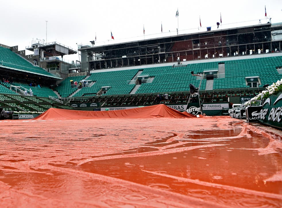 All play at the French Open on Monday has been abandoned