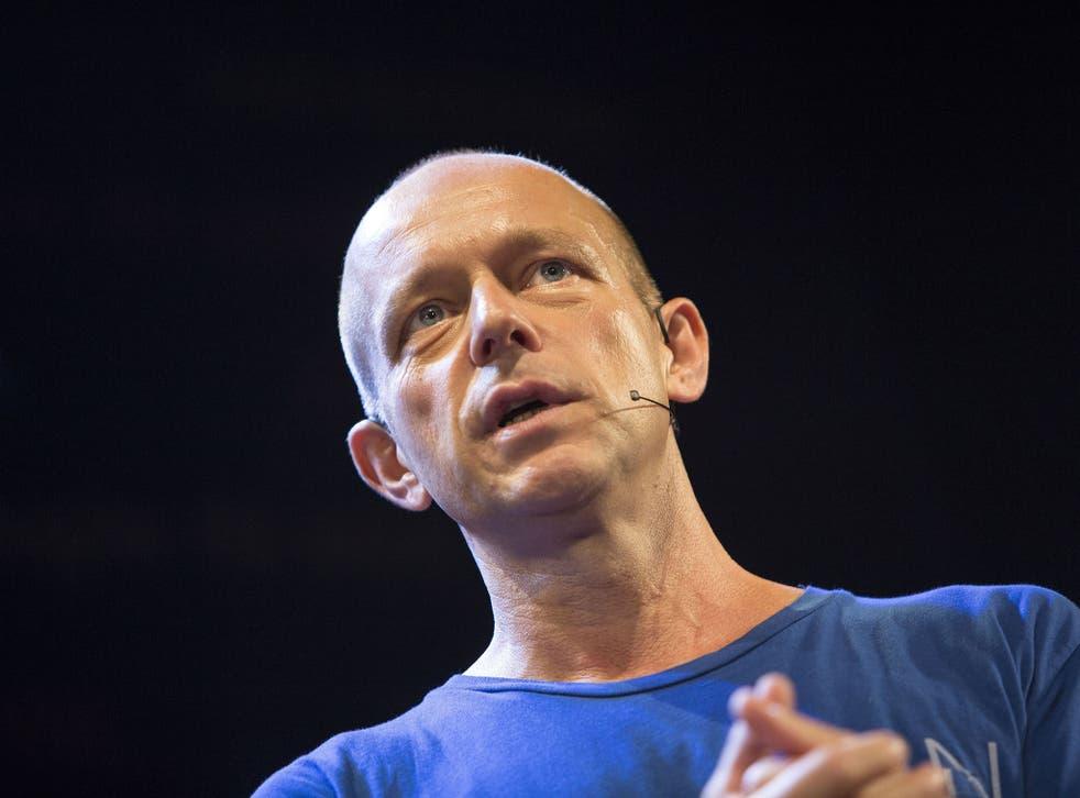 Steve Hilton speaks at the Hay Festival on 28 May 2016