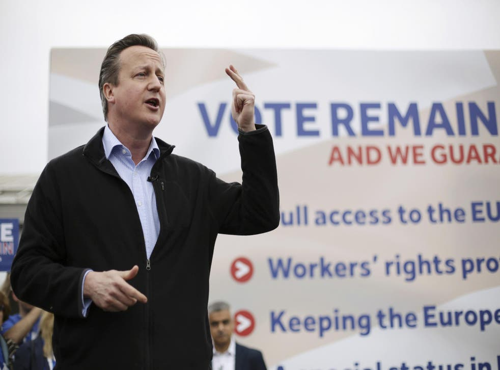 Mr Cameron came under a sustained attack from members of his own party suggesting he should quit over the weekend
