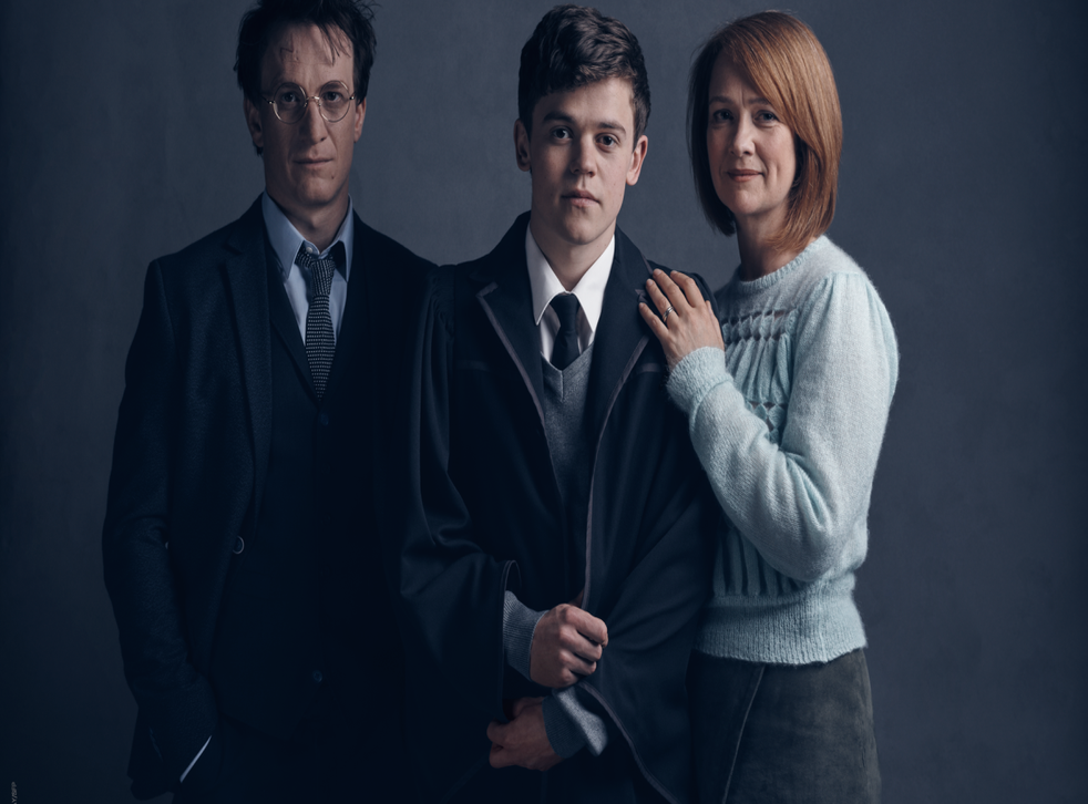 The cast of JK Rowling's Harry Potter and the Cursed Child, playing at London's Palace Theatre