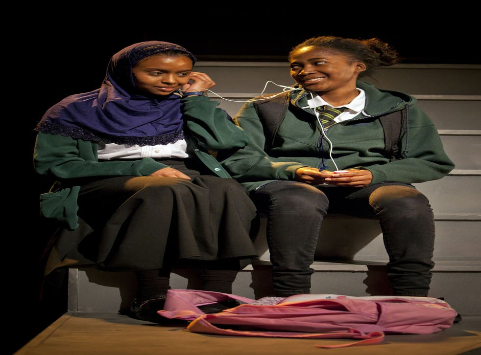 Bonded by wounds: Tsion Habte (Iqra) and Adelayo Adedayo (Muna) in Cuttin' It