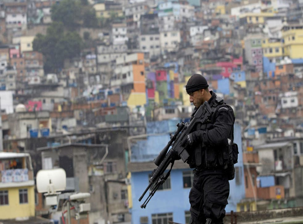 Police operation in a Rio favela