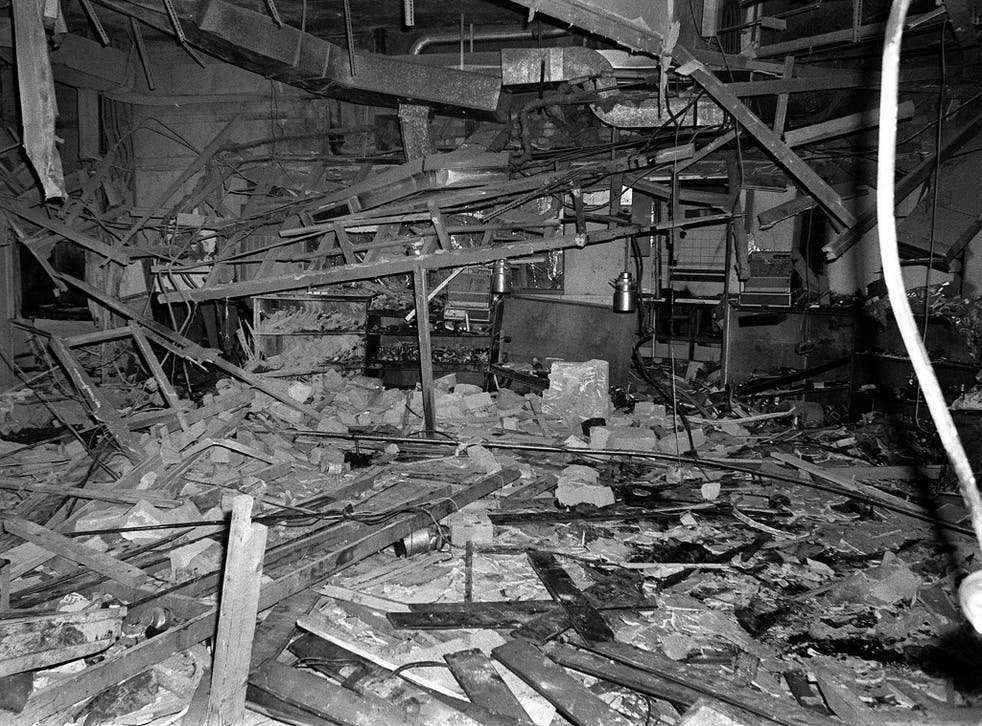 The wreckage left at the Mulberry Bush pub in Birmingham after a bomb exploded on 21 November 1974