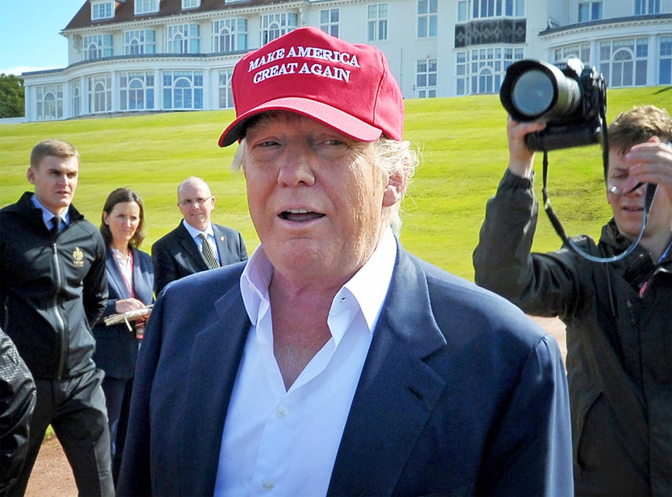 Mr Trump will be attending the official reopening of his golf course in Scotland