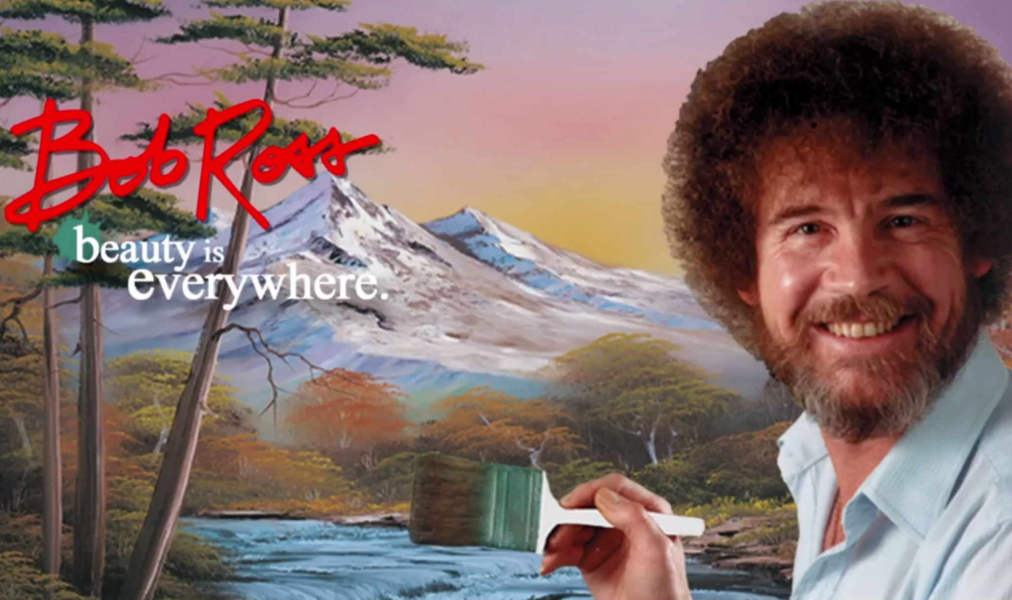 Netflix now streaming calming painter bob ross to remind us that it 39 s totally fine to be friends - Images remind us s ...