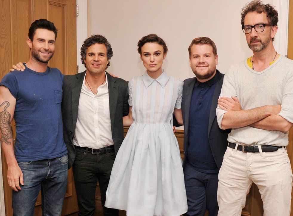 Adam Levine, Mark Ruffalo, Keira Knightley, James Corden and John Carney