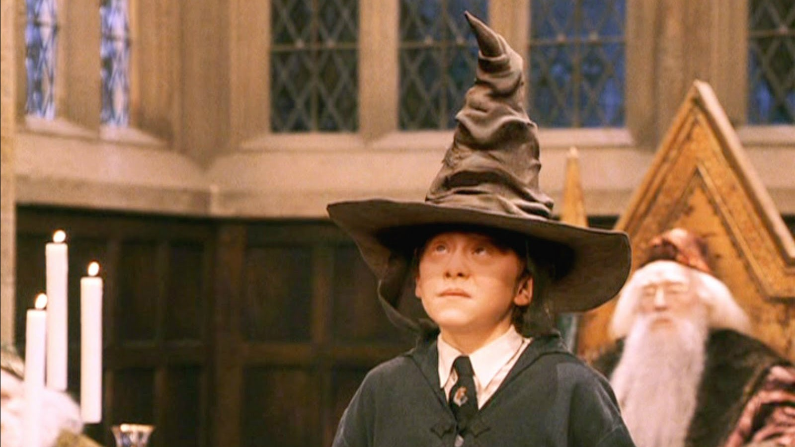 harry potter rupert grint took the sorting hat test but