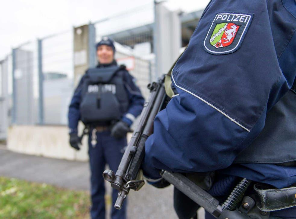 Dusseldorf police on patrol