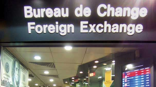 pound sterling drops below euro at airports after uk