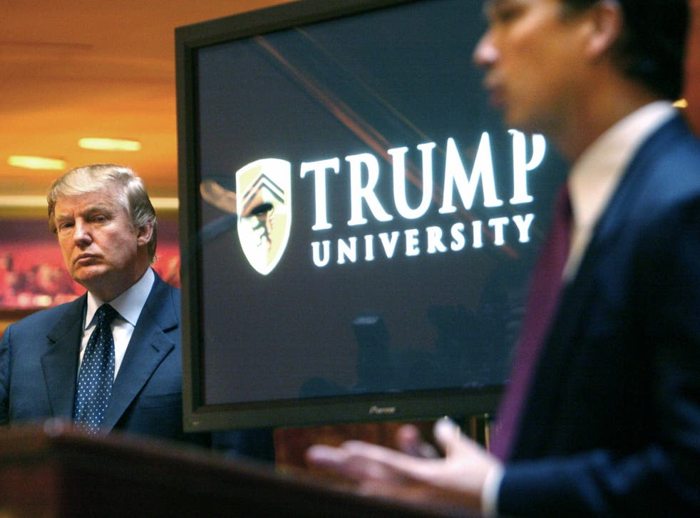 Trump University has been accused of draining students financially