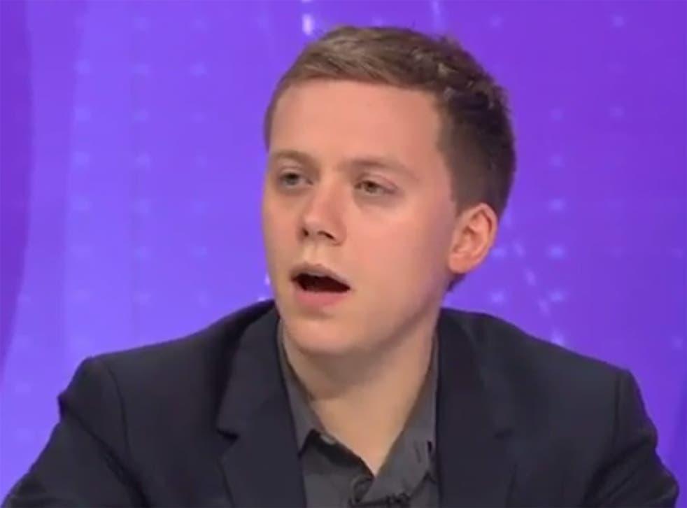 Owen Jones speaking on BBC's Question Time