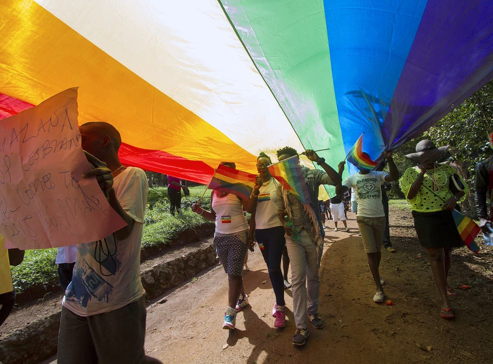Uganda has notoriously draconian anti-homosexuality laws with 'offenders' facing life imprisonment