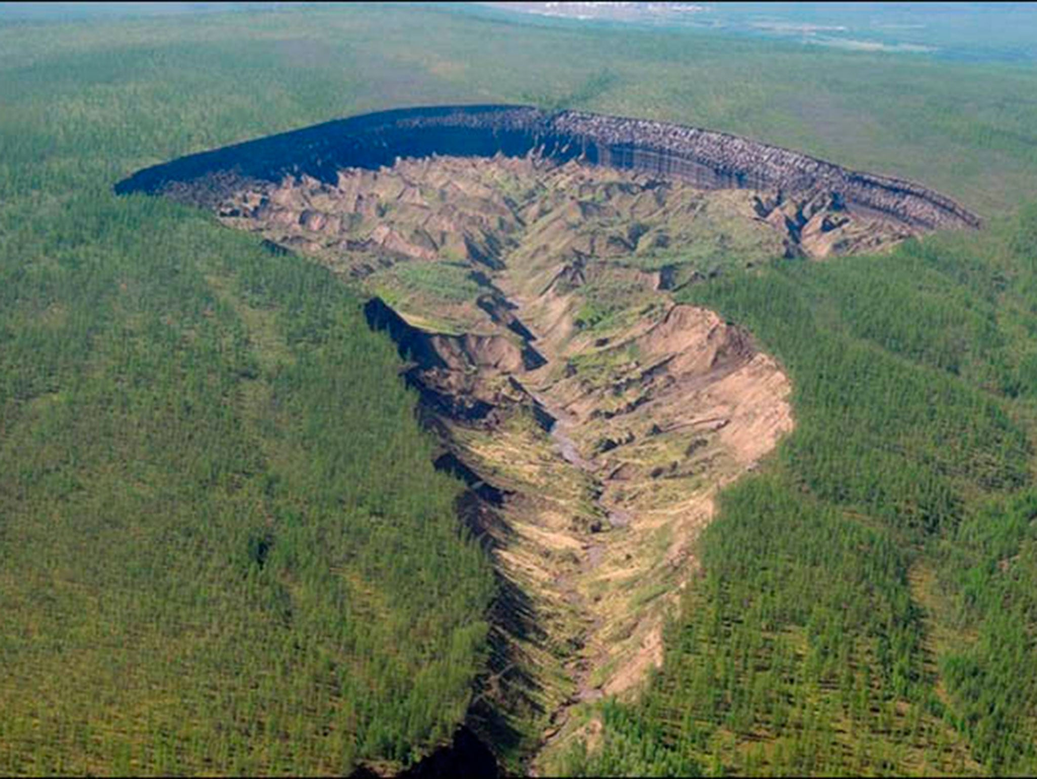 Appearance of crater dubbed 'the Gateway to the Underworld' in Siberia is a warning to our warming planet