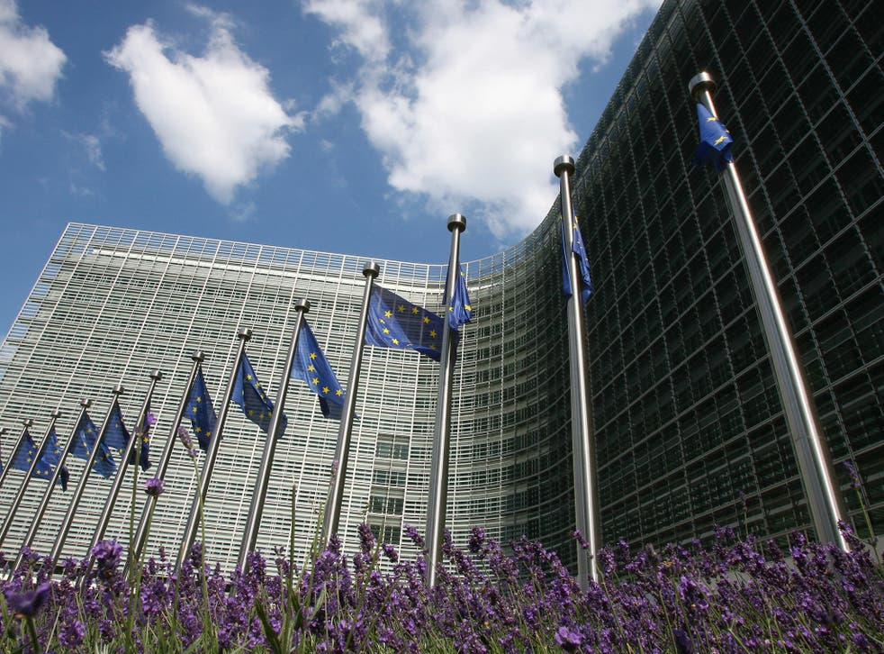 Berlaymont building, headquarters of the European Union Commission in Brussels