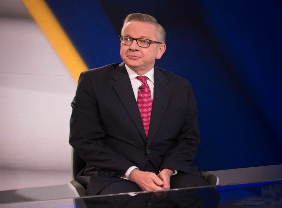 Michael Gove said UK citizens must 'take back control'