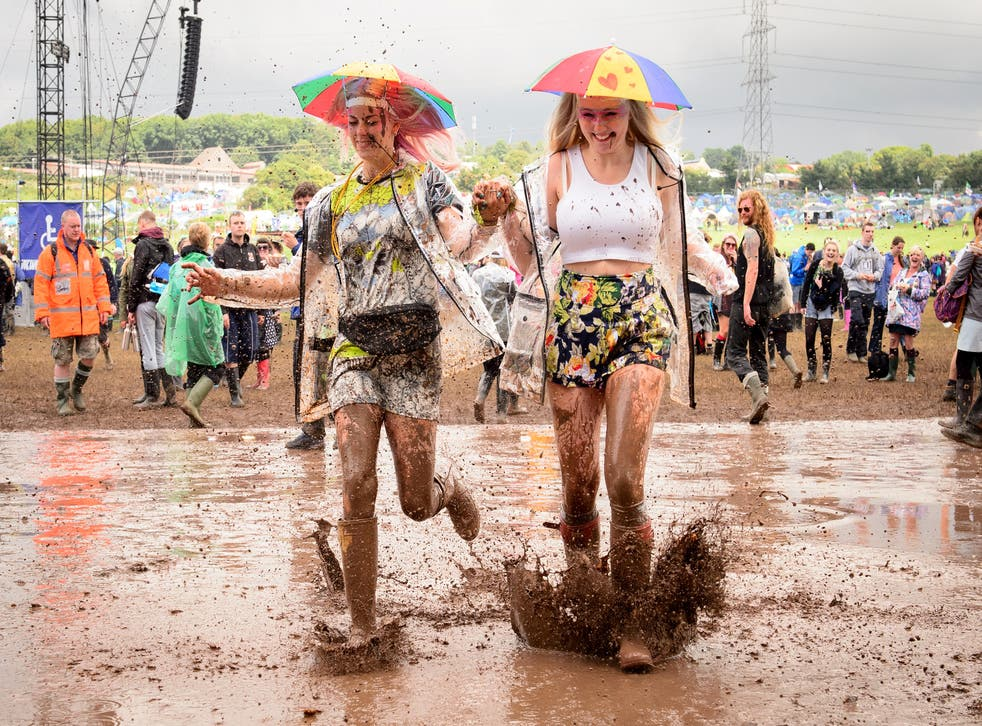 Imagine doing this if you'd forgotten your wellies...