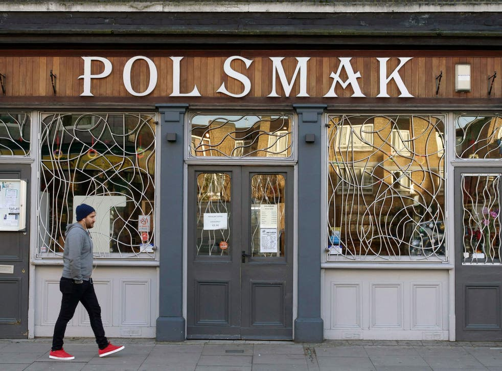A Polish delicatessen in Dalston, London. Poles make up some 800,000 of EU citizens living in the UK