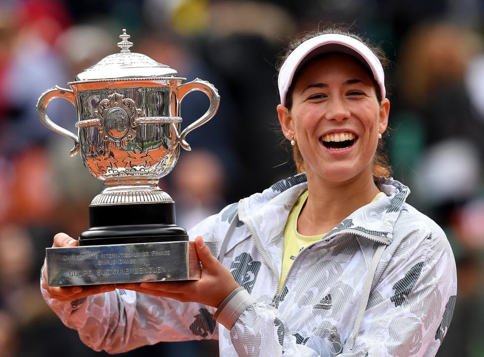 Muguruza put the disappointment of defeat in last year's Wimbledon final behind her
