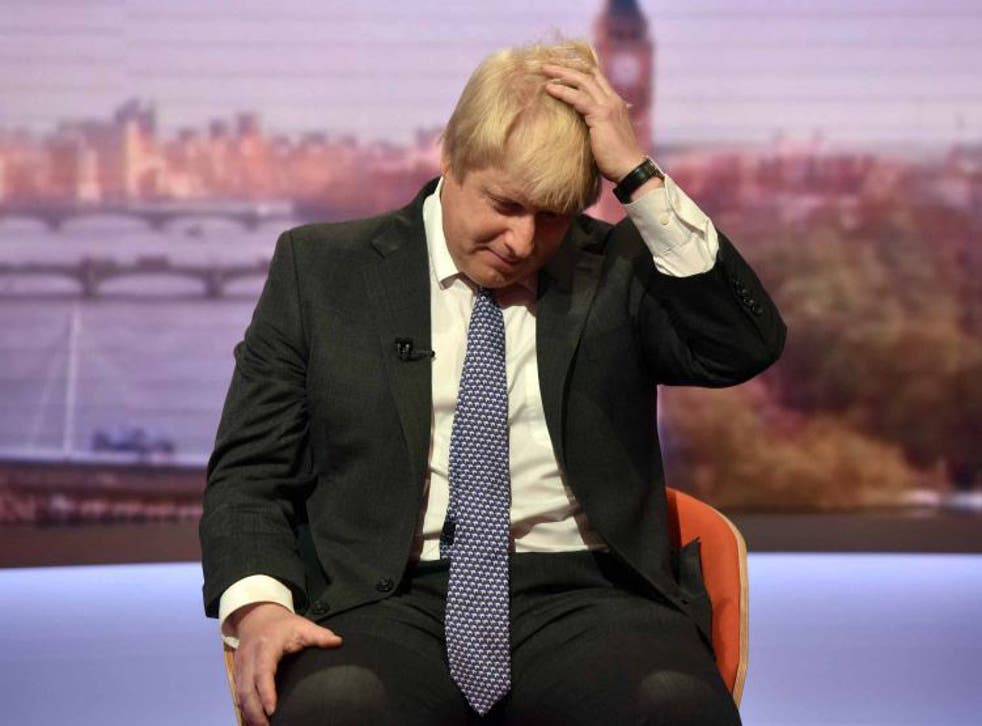 The footage from three years ago seems to contradict Mr Johnson's stated position on the EU during the referendum campaign