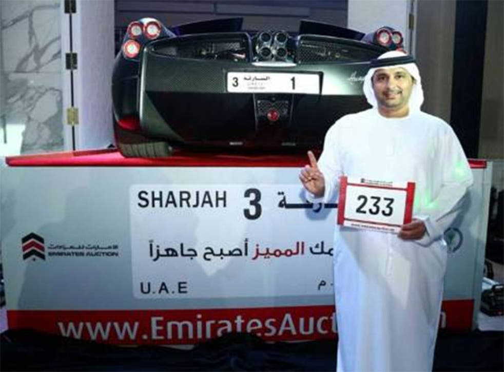Arif Ahmad al-Zarouni is pictured with his prize