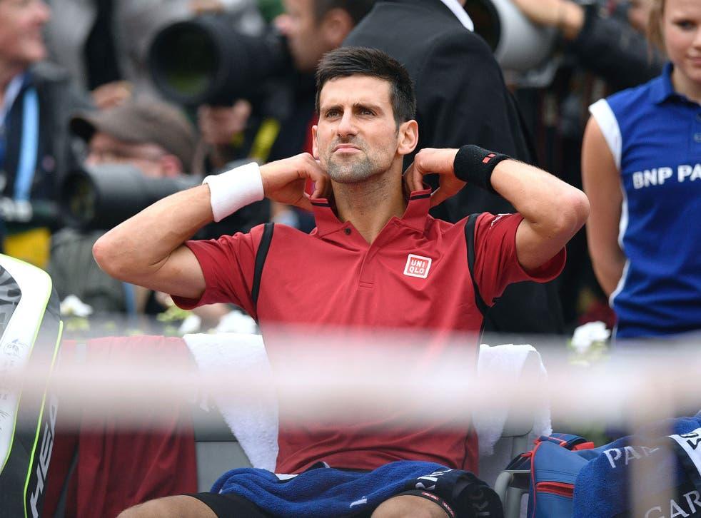 Novak Djokovic during the French Open final