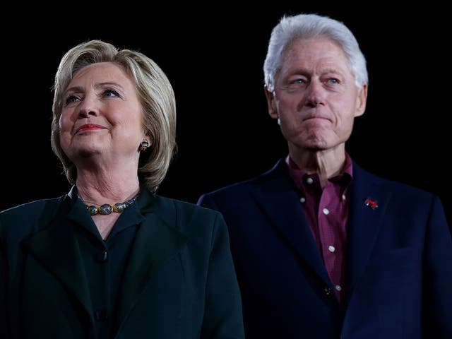 Hillary Clinton and Bill Clinton on the campaign trail