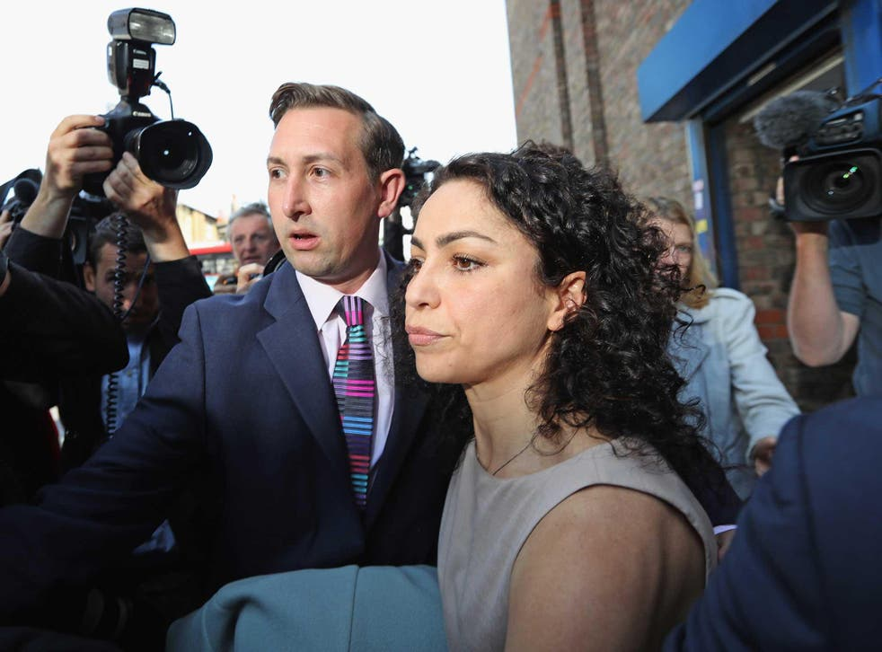 Former Chelsea Football club first-team doctor Eva Carneiro leaves Croydon Employment Tribunal after attending a private hearing in her constructive dismissal case against the club