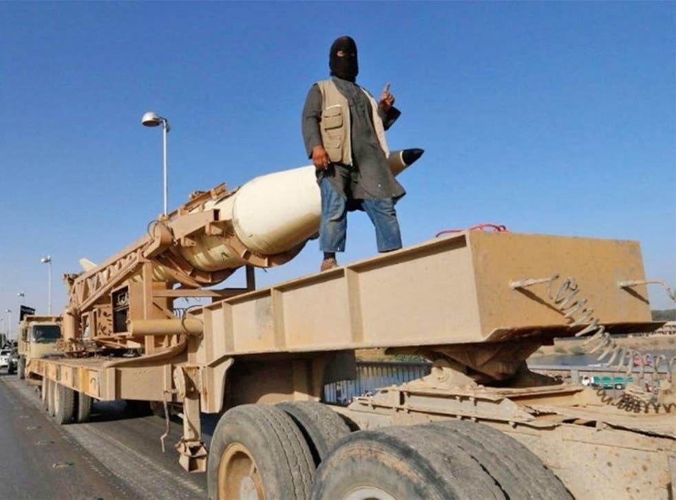 Isis shows off its military hardware in a propaganda video from 2014