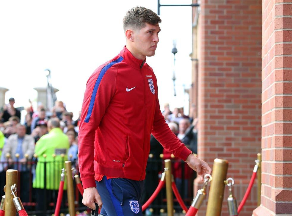 John Stones on duty for England