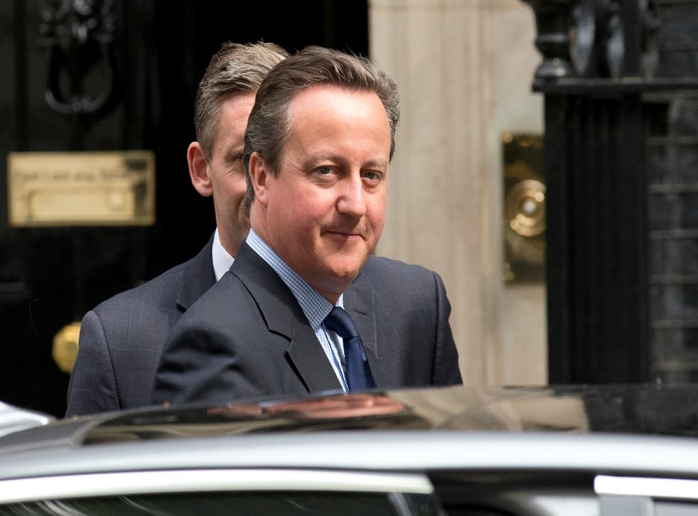 David Cameron leaves 10 Downing Street to attend Prime Minister's Questions