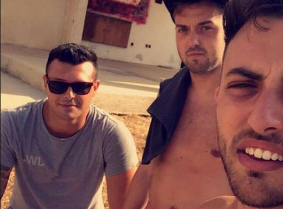 Lewis Ellis, James Wallman and Alex McCormick work as holiday reps in Cyprus