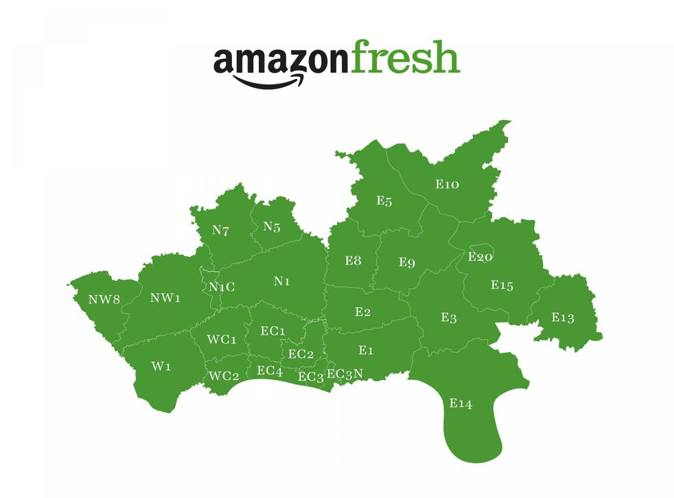Amazon Fresh is available to Amazon Prime customers in 69 central and east London postcodes