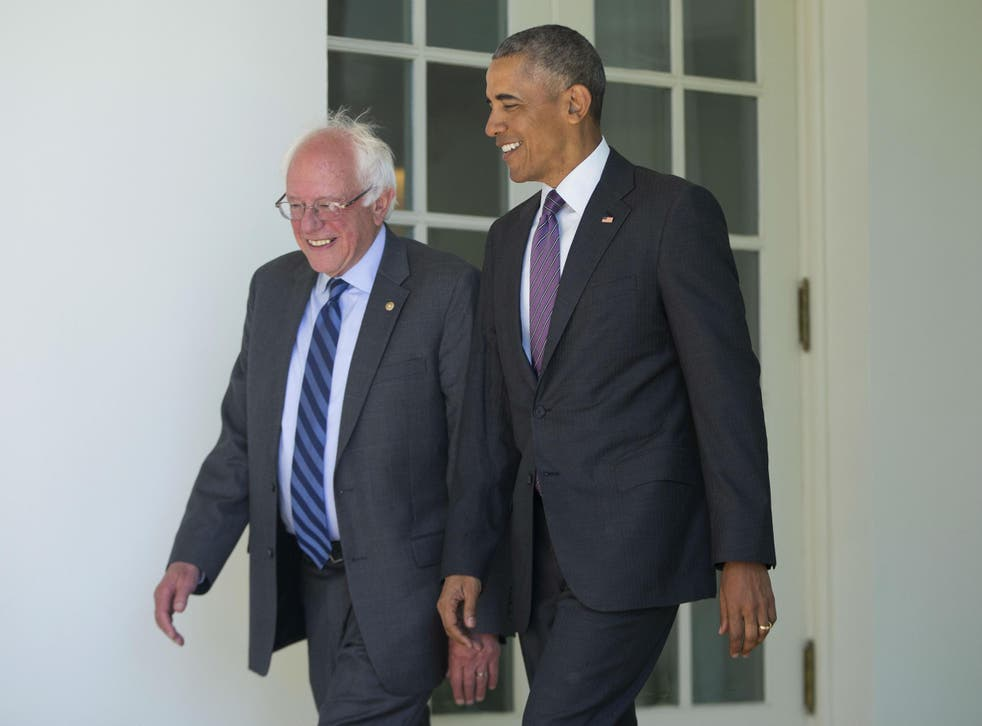 Mr Sanders said he is 'looking forward' to working with Ms Clinton