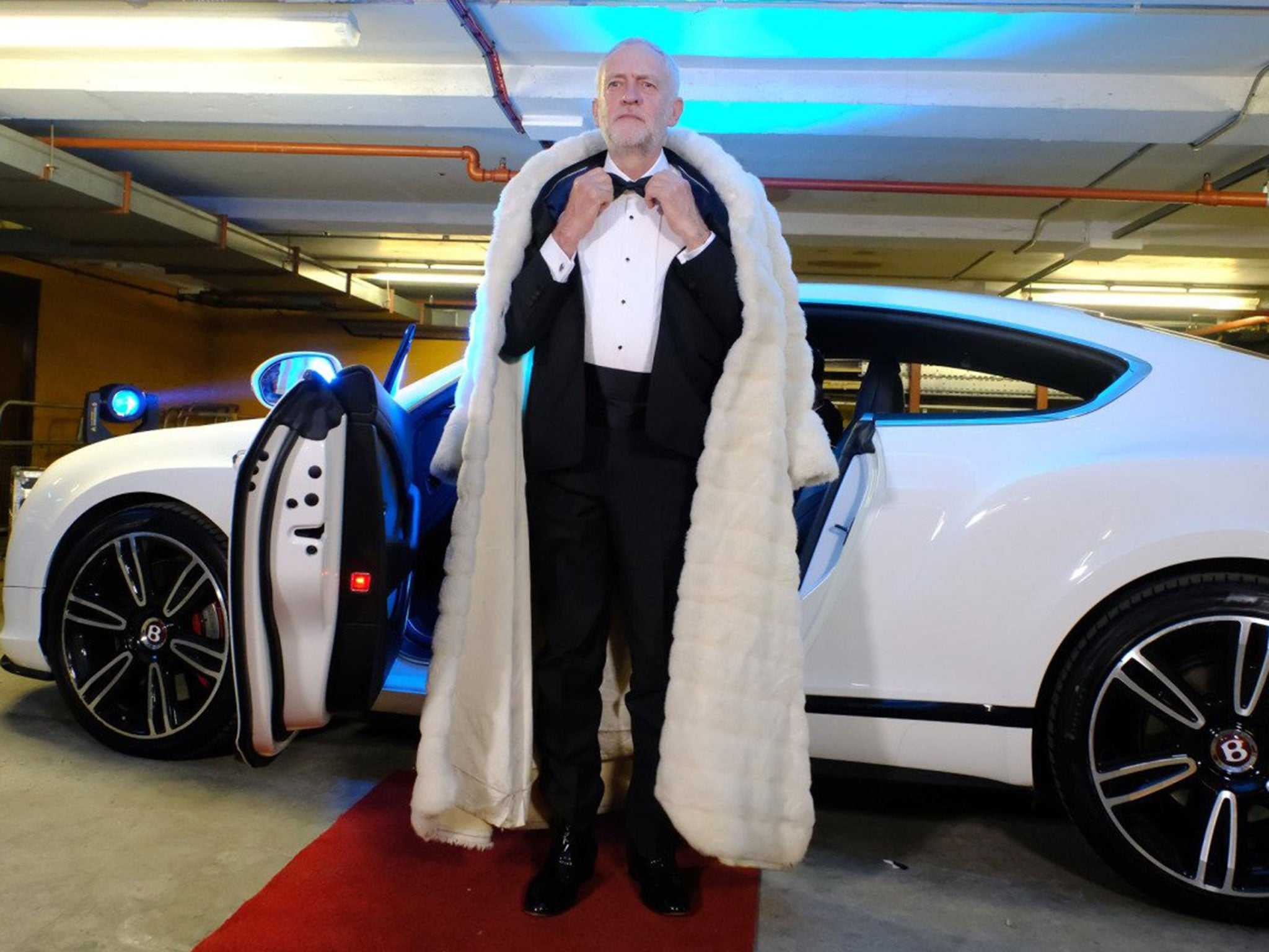 Image result for jeremy corbyn fur coat