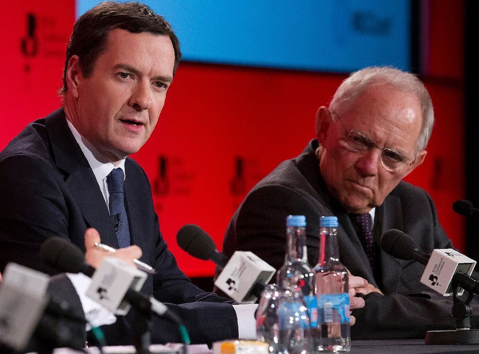 German Finance Minister Wolfgang Schauble and George Osborne both support Britain's continued membership of the EU