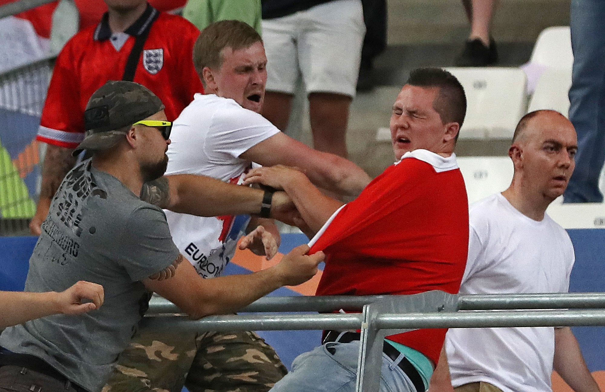 Euro       Marseille stadium violence raises security fears after Russia fans storm England supporters      section   The Independent