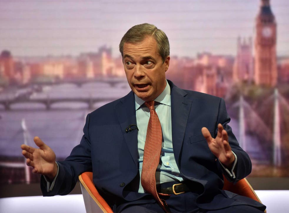 Mr Farage also stood by his controversial stance on banning foreigners with HIV from coming to the UK for NHS treatment