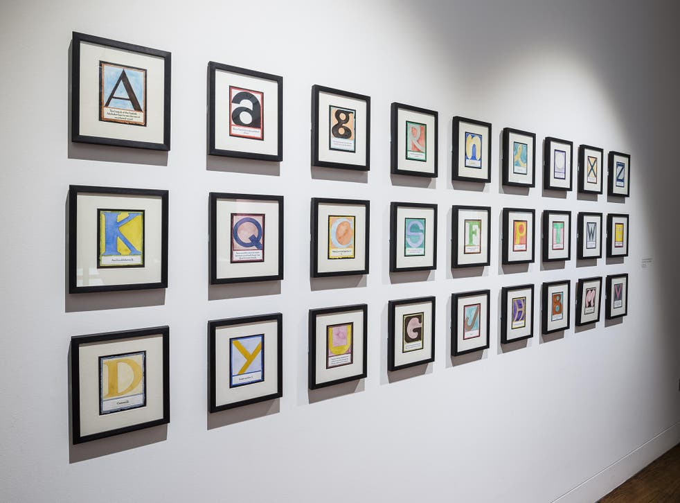 'Alphabet in Colour' by Vladimir Nabokov, as interpreted by Jean Holabird. Examples of how someone with Synaesthesia might see letters