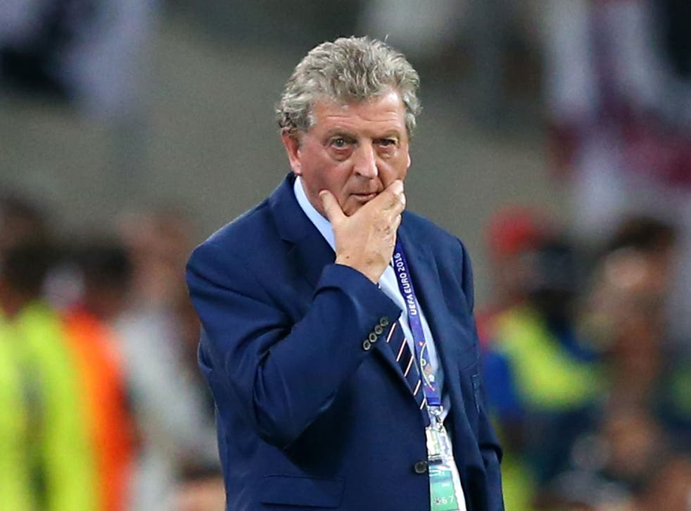 Roy Hodgson looks on during the game with Russia