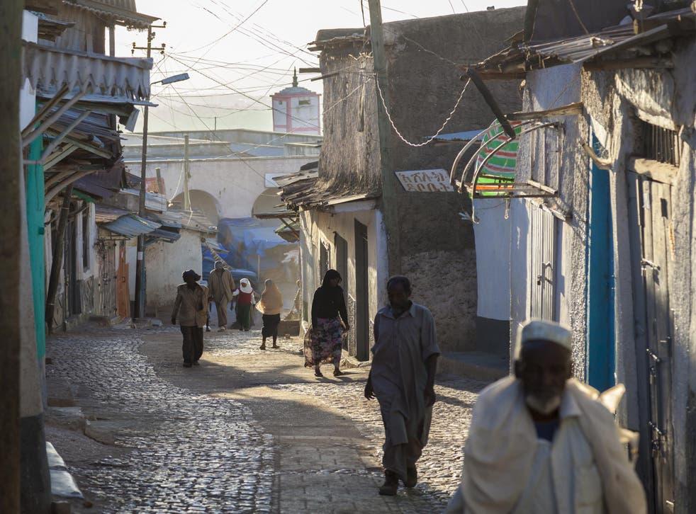 Inside Harar's ancient walled city of Jugol