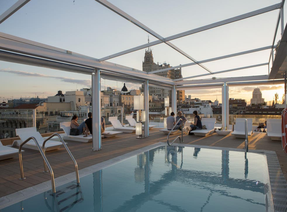 The rooftop terrace offers great city views