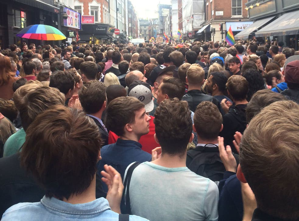 Thousands flocked to London's Old Compton Street to remember the victims of Orlando