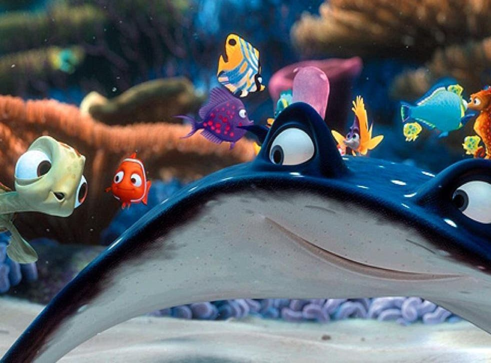 Mr Ray appears in Finding Nemo but it remains to be seen whether he is the 'sting-Rhonda' DeGeneres mentions