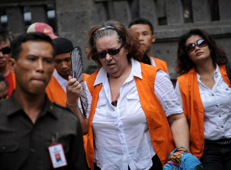 Lindsay Sandiford (centre), a British grandmother from Teeside, may be among those executed