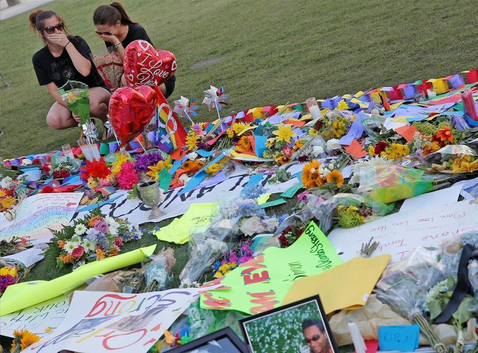 A memorial near the Pulse gay nightclub in Orlando