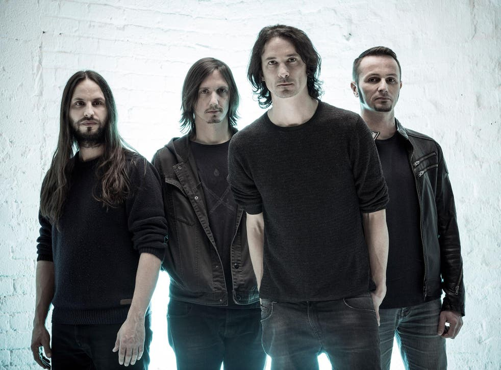 Gojira from left to right, Christian Andreu, Mario Duplantier, Joe Duplantier and Jean-Michel Labadie